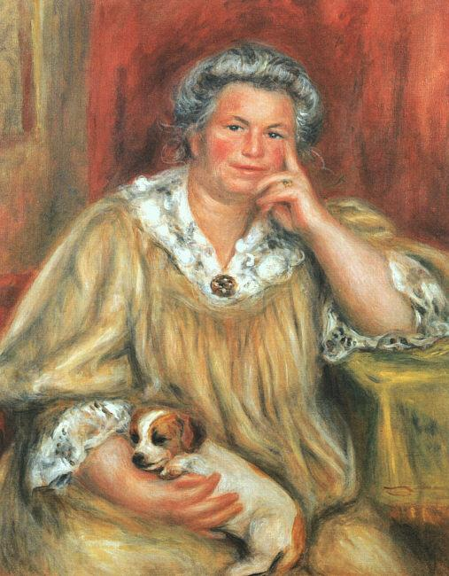 Pierre Renoir Madame Renoir and Bob Sweden oil painting art